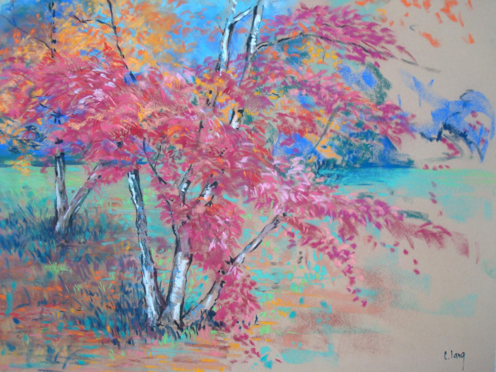 Violet clang artiste peintre for Peinture pastel gras